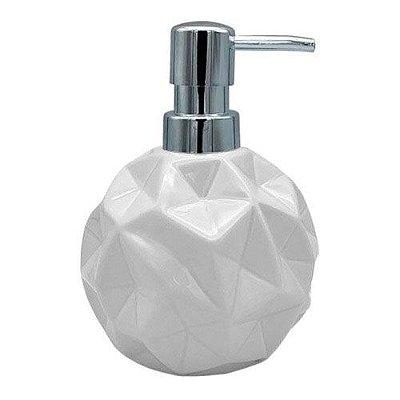 Dispenser de Sabonete Líquido em cerâmica 300ml - branco