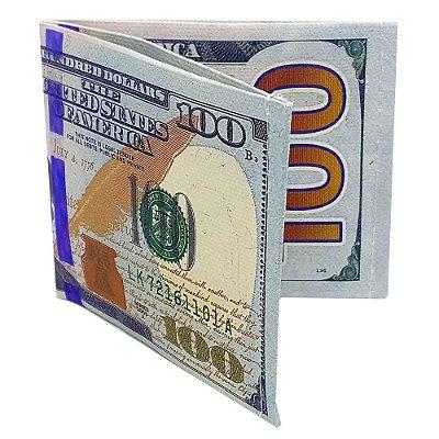 Carteira Slim Dinheiro Nota de Dólar US$