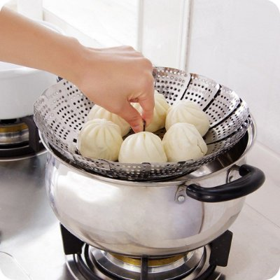 Cesto de Cozimento à Vapor Inox Cozinhar Legumes Verduras