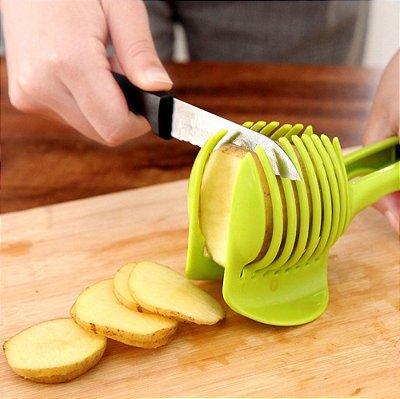 Fatiador Cortador Pegador Tipo Pinça de Tomate Cebola Frutas