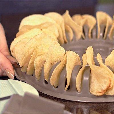 Forma Batatas Chips Para Micro-ondas Saudável e Sem Gordura