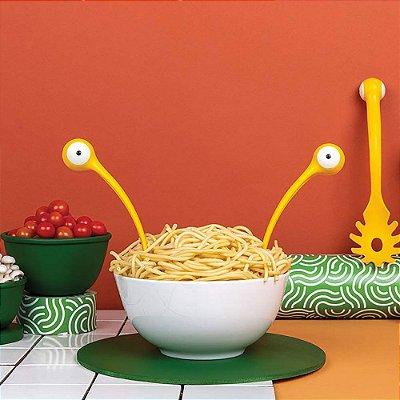 Jogo Colher de Cozinha e Pegador de Macarrão Pasta Monsters