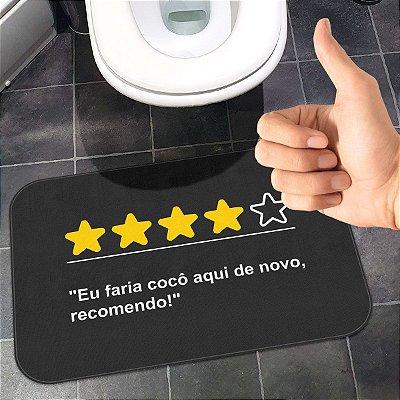 Tapete de Banheiro Avaliação Positiva Recomendo