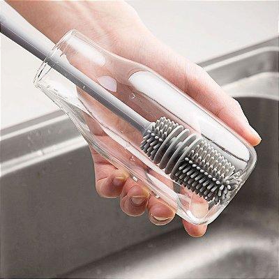 Escova para Garrafa Copos e Vasos fundos