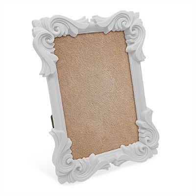Porta Retrato moldura Flor - branco