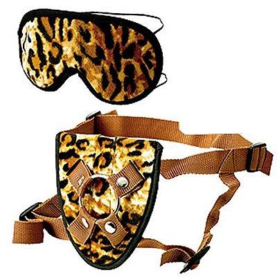 Cinta Peniana e Venda Furplay Harness & Mask Sets