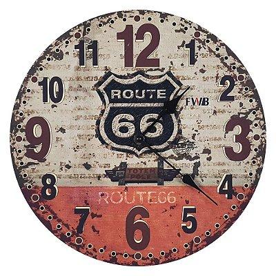 Relógio de parede Retrô Route 66