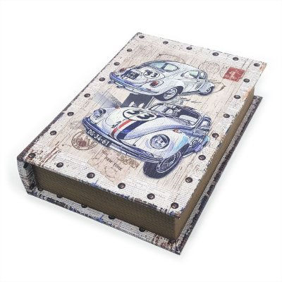 Caixa Livro Decorativa Fusca 53 Herbie - 25 x 18 cm