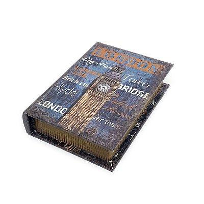 Caixinha Livro Decorativa London - 18 x 13 cm