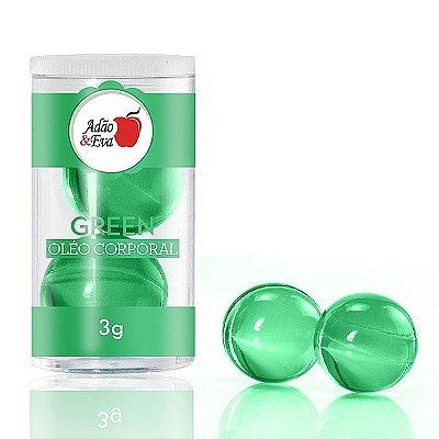 Cápsula do Prazer Grande com 2 Esferas - Verde