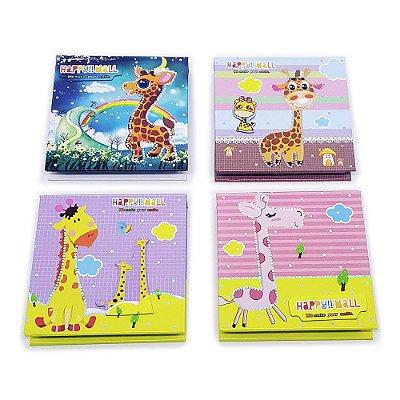 Bloco de Anotações - Tema Girafas