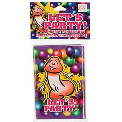 Convite para Festa Let`s Party