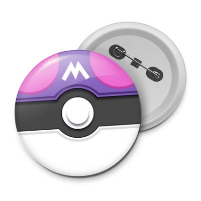 Botton Pokébotton Master Poketball