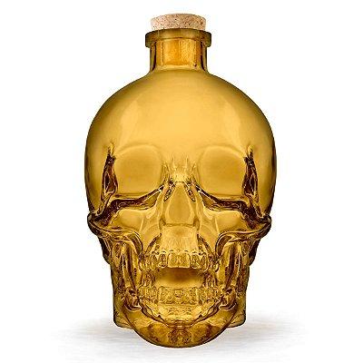 Garrafa de vidro Caveira Skull - amarela