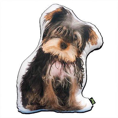 Almofada Coleção Cute Dogs fundo preto - Yorkshire