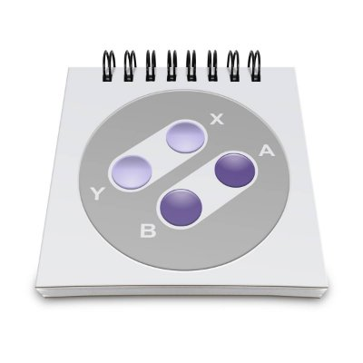Bloco de Anotações Joystick 16-bits