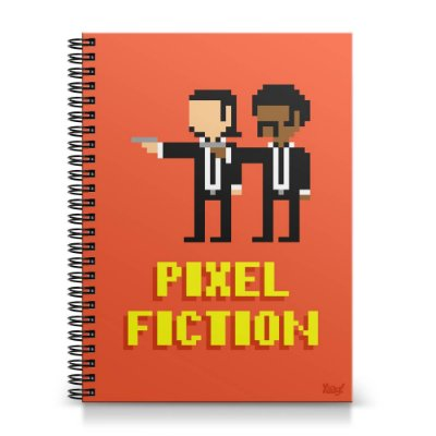 Caderno Universitário Capa Dura 1x1 - Pixel Fiction