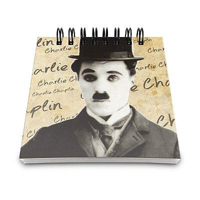 Bloco de Anotações Retrô Charlie Chaplin