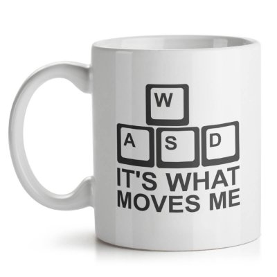 Caneca PC Gamer WASD Its What Moves Me