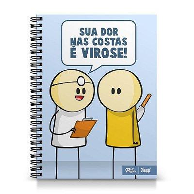 Caderno Universitário DrPepper Capa Dura 1x1 - DrPepper Virose