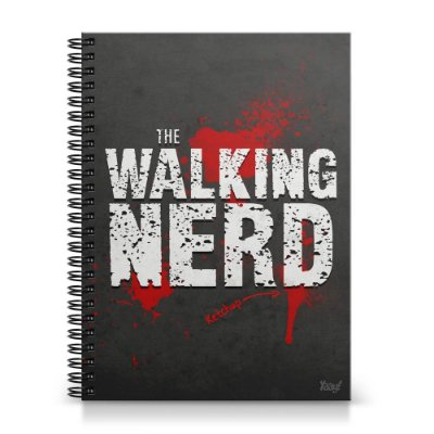 Caderno Universitário Capa Dura 1x1 - The Walking Nerd