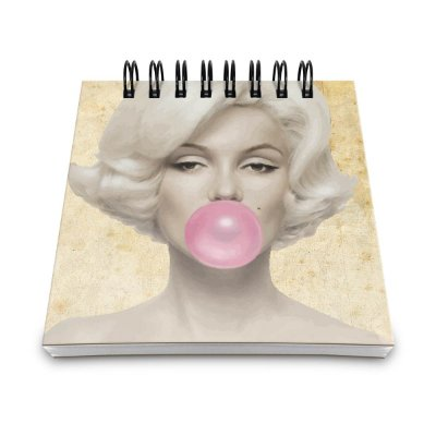 Bloco de Anotações Retrô Marilyn Monroe