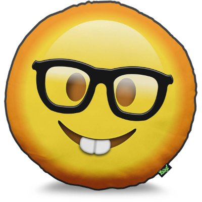 Almofada Emoticon - Emoji Nerd Geek