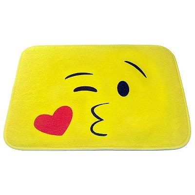 Tapete Emoticon - Emoji Beijinho com amor