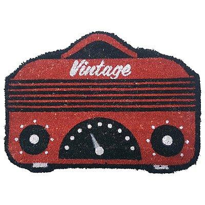 Capacho Rádio Vintage em fibra de coco