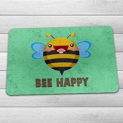 Capacho Eco Slim 3mm Abelha Bee Happy