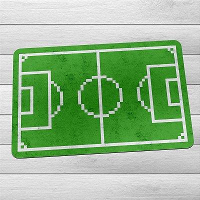 Capacho Eco Slim 3mm Campo de Futebol 8-bits Pixel