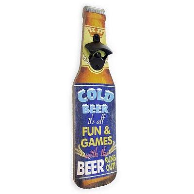 Abridor de Garrafa de Parede Cold Beer