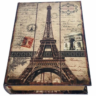 Caixa Livro Decorativa Torre Eiffel - 25 x 18 cm