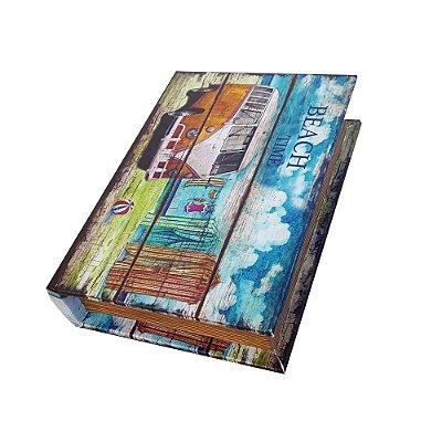 Caixinha Livro Decorativa Kombi Beach Time - 18 x 13 cm
