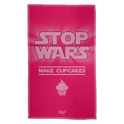 Pano Multiuso em Microfibra Stop Wars Make Cupcakes