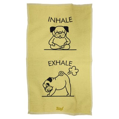 Pano Multiuso em Microfibra Inhale Exhale Pug
