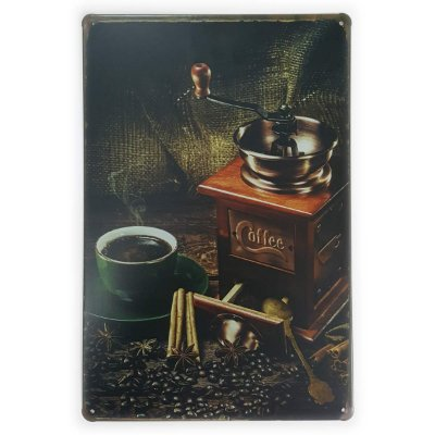 Placa de Metal Coffee moedor - 30 x 20 cm