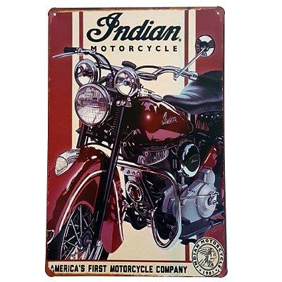 Placa de Metal Decorativa First Motorcycle - 30 x 20 cm
