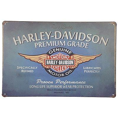 Placa de Metal Harley Finest Quality - 30 x 20 cm