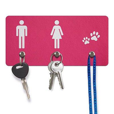 Porta Chaves Ecológico Ele Ela Pets - rosa