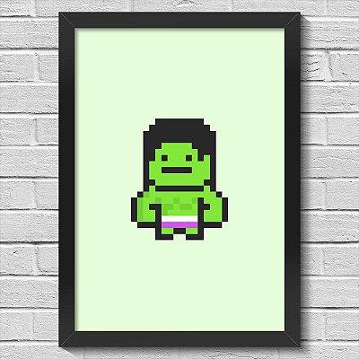 Poster A3 com Moldura PixelHulk