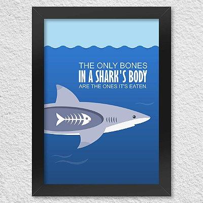 Poster com Moldura Shark Bones