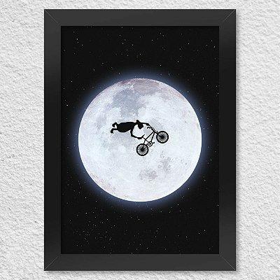 Poster com Moldura ET BMX radical