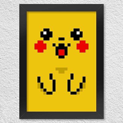 Poster com Moldura Pixelchu