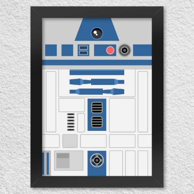 Poster com Moldura Geek Side Faces - R2