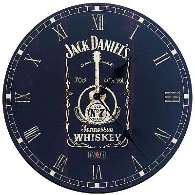 Relógio de Parede Retrô Jack Daniel's Tennessee Whiskey