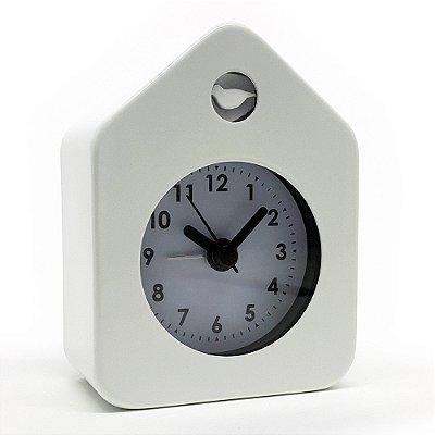 Relógio de mesa Despertador House Style - branco