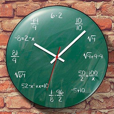 Relógio de Parede Geek Blackboard - 30 cm