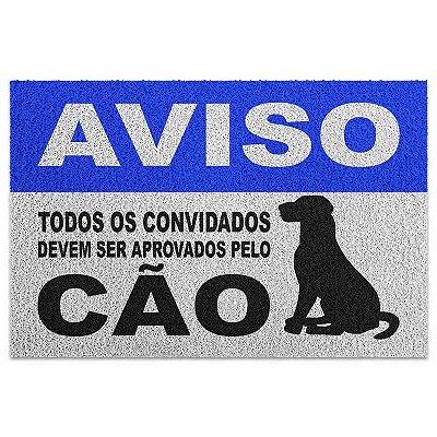 Capacho em Vinil Aprovados pelo Cão - 60 x 40