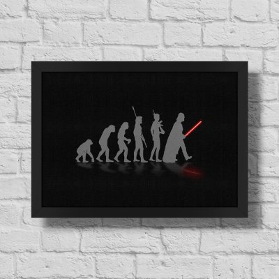Quadro A3 Geek Evolution - preto - 30 x 42 cm